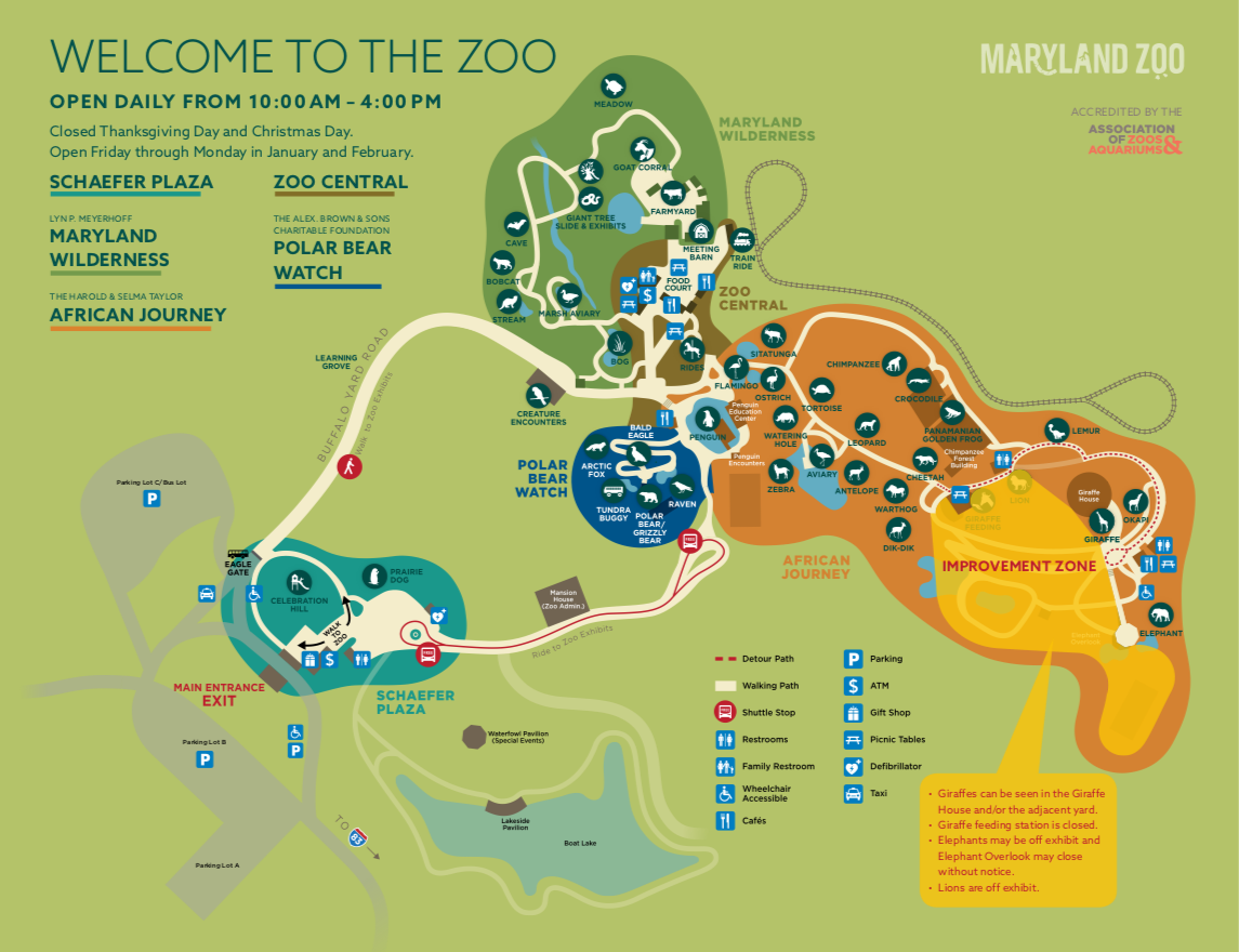 Baltimore Zoo Map Plan A Visit to The Maryland Zoo in Baltimore