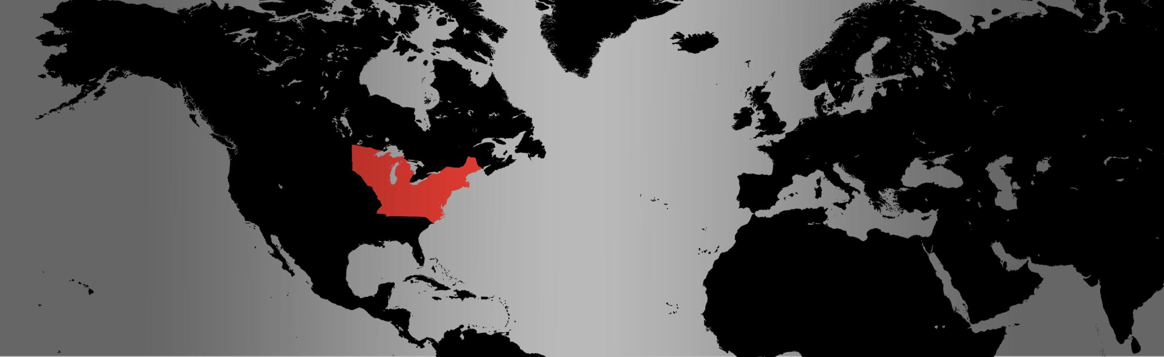Eastern Milksnake map