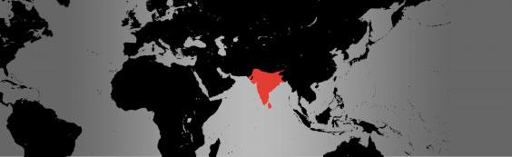 indian python map