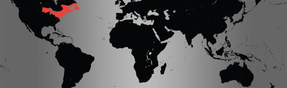 Wood turtle. map