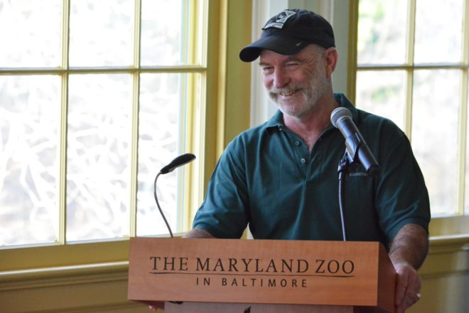 Zoo staff member Dr. Mike