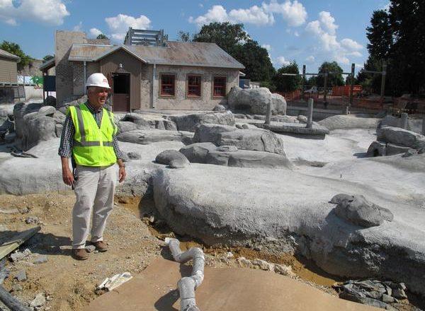 construction on penguin exhibit