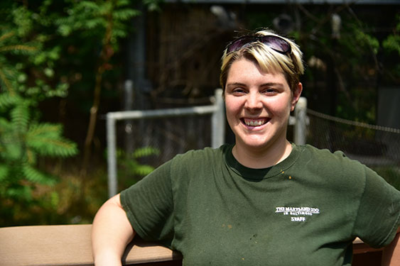 zoo keeper smiling for photo