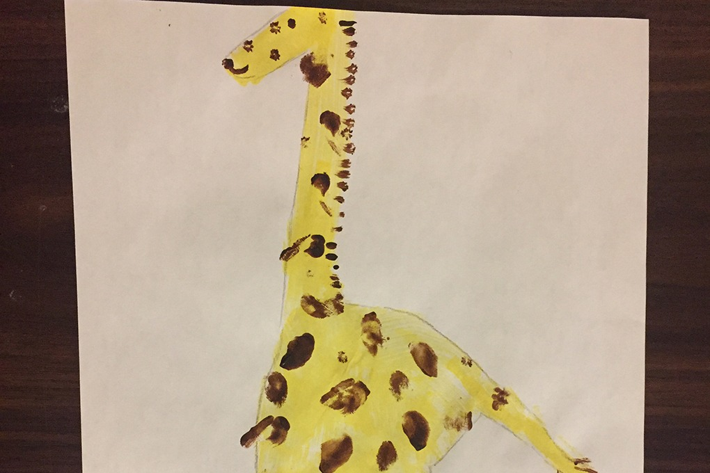 giraffe craft header