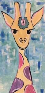 giraffe painting kid's night