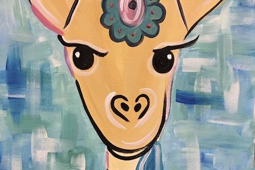 giraffe painting header