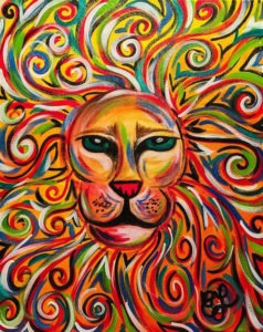 king of the jungle lion painting
