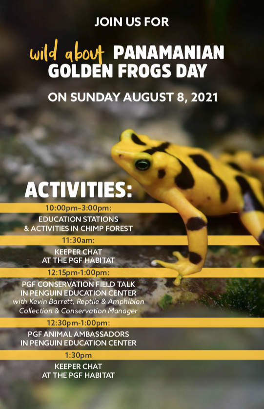 Wild About Panamanian Golden Frog Day Schedule