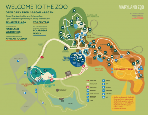 Baltimore Zoo Map Map & Directions   The Maryland Zoo
