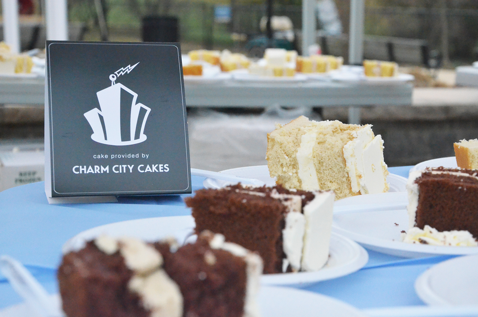 pieces of Charm City cake