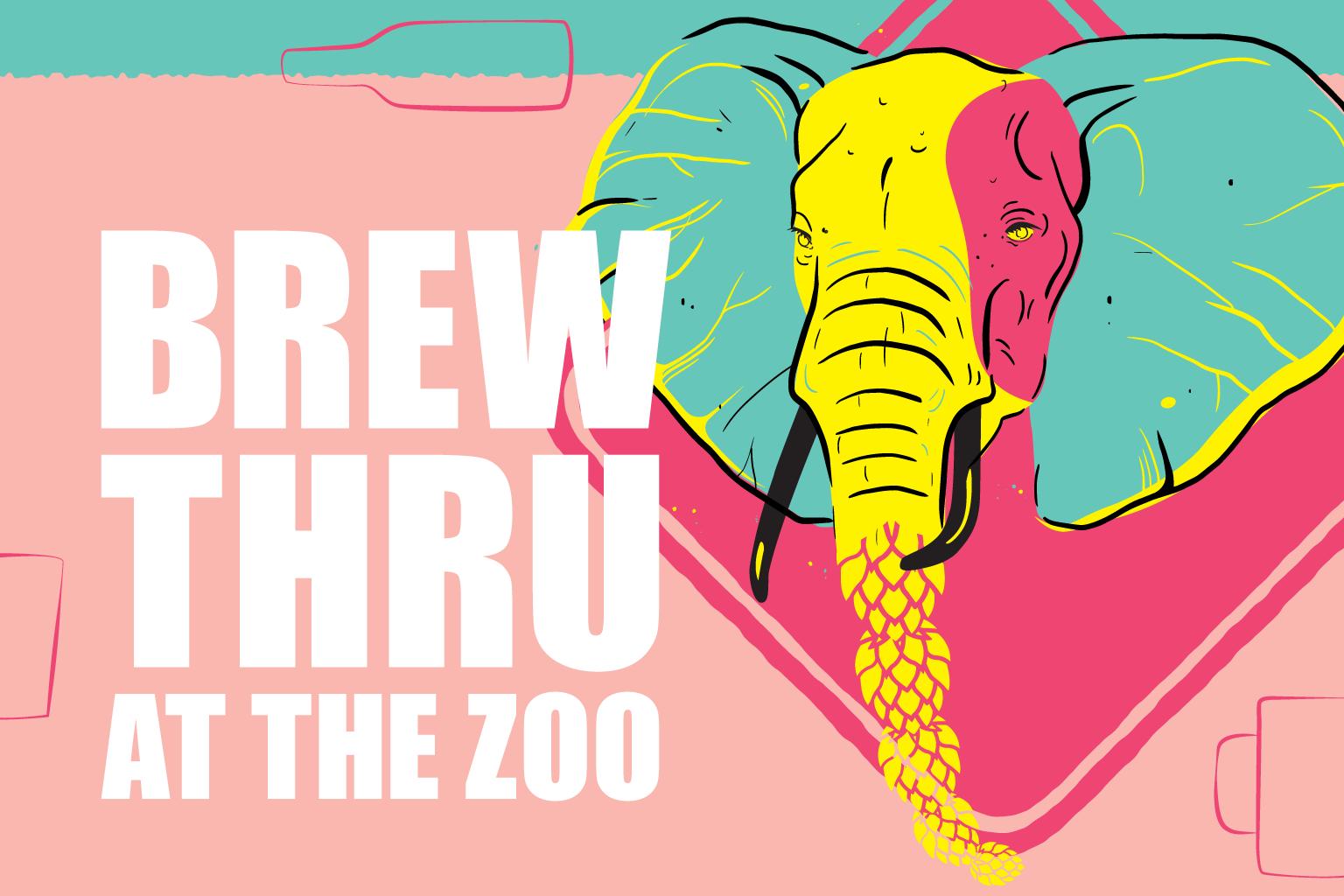 Brew Thru at the Zoo logo.